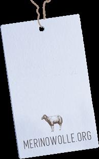 Merinowolle Etikett
